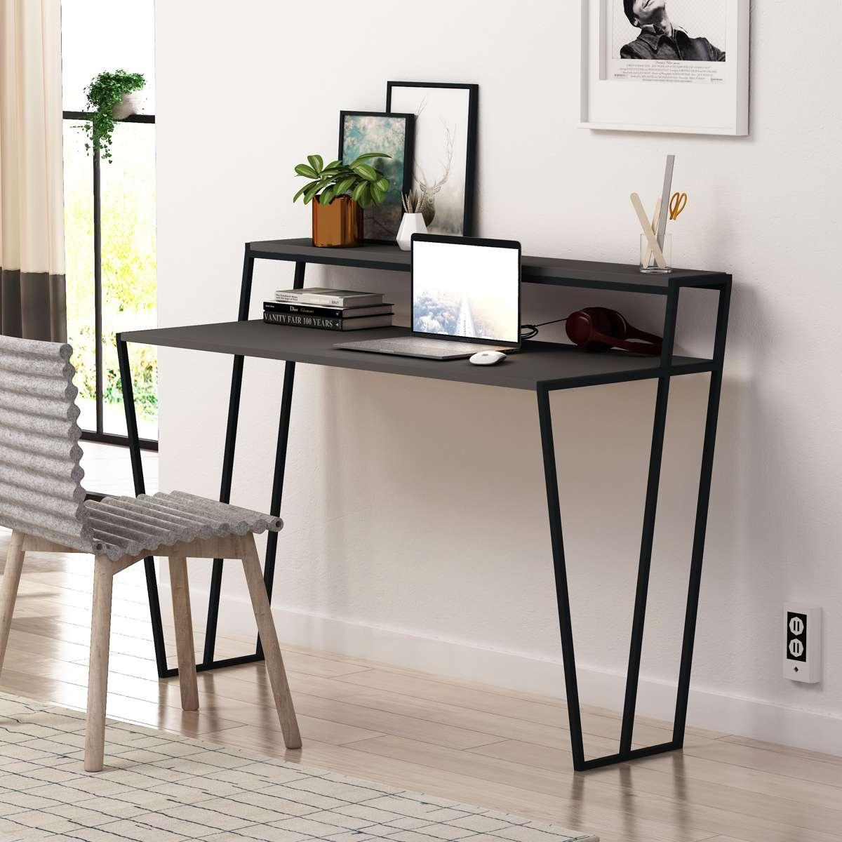 שולחן כתיבה Pal Working Table אפור מסדרת Decoline