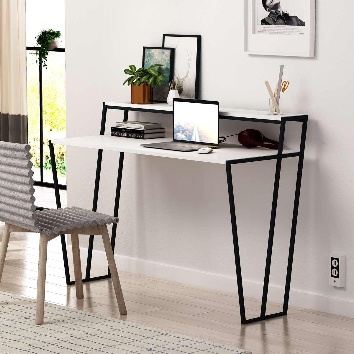 שולחן כתיבה Pal Working Table לבן מסדרת Decoline