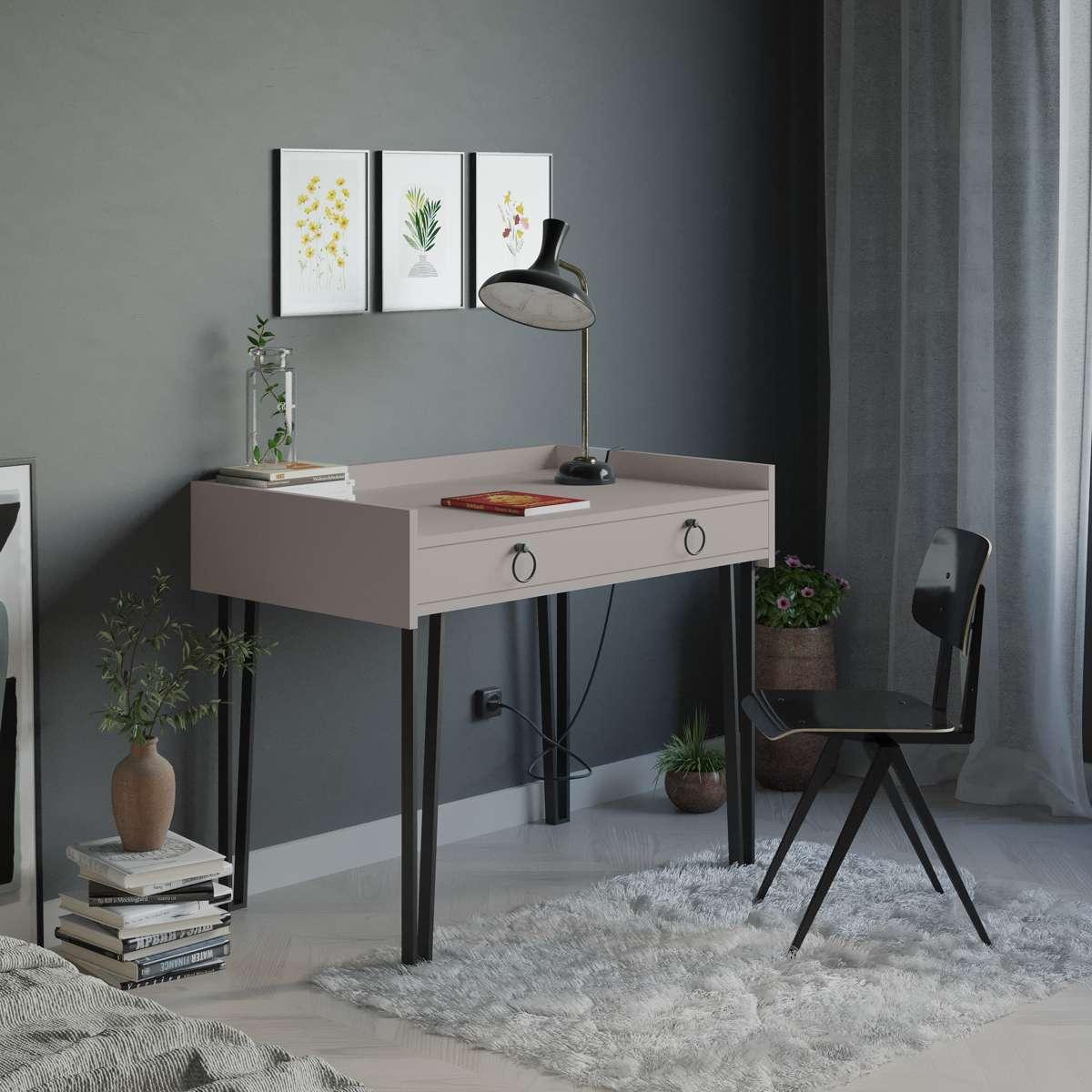 שולחן כתיבה Sponge Study Table מוקה מסדרת Decoline