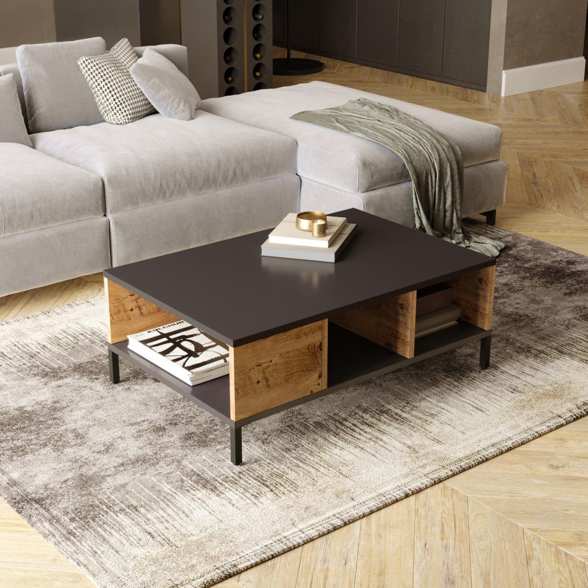 שולחן סלון RL2-AA אלון/אפור מסדרת Peyton