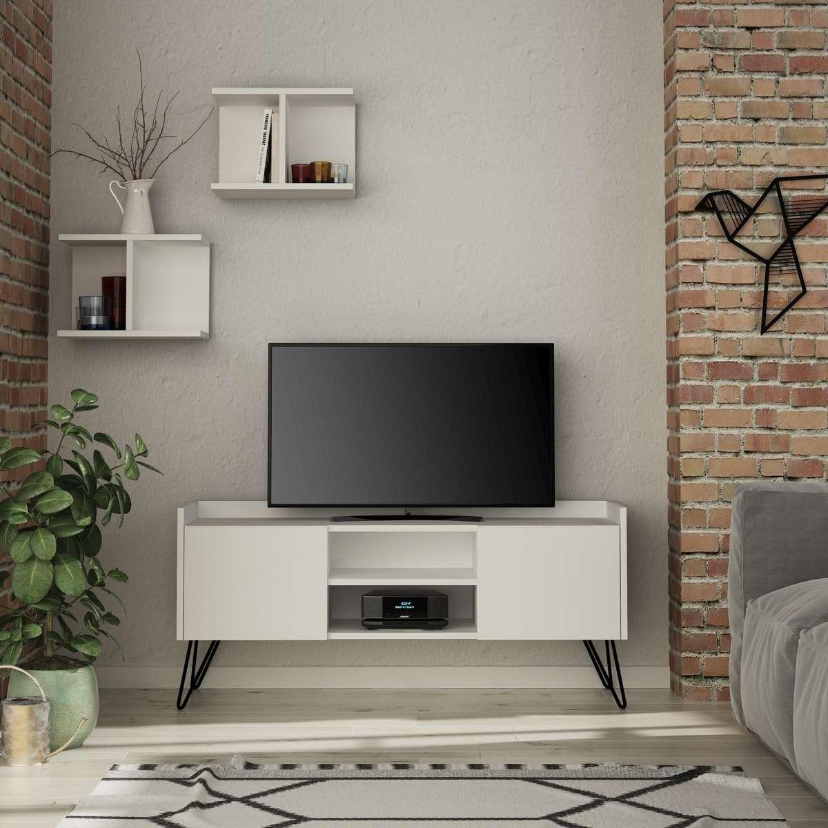 מזנון טלוויזיה KlappeTV לבן 125ס