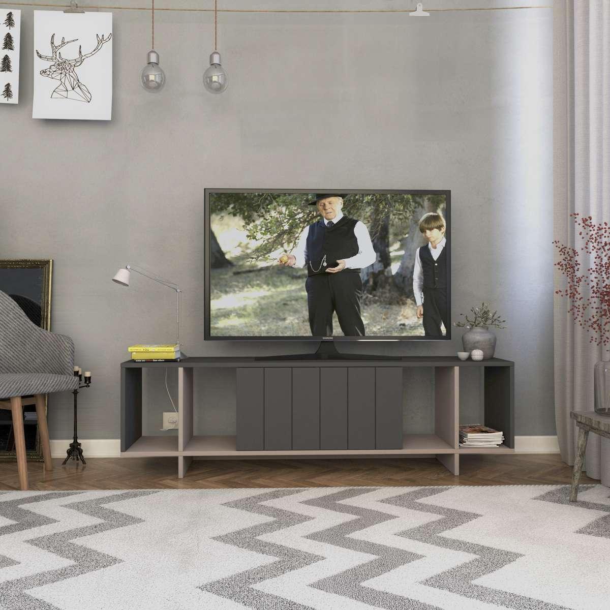 מזנון טלוויזיה ZITANO TV אפור/מוקה 160 ס
