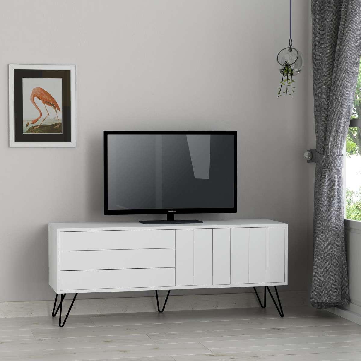 מזנון טלוויזיה PicadillyTV לבן 139ס