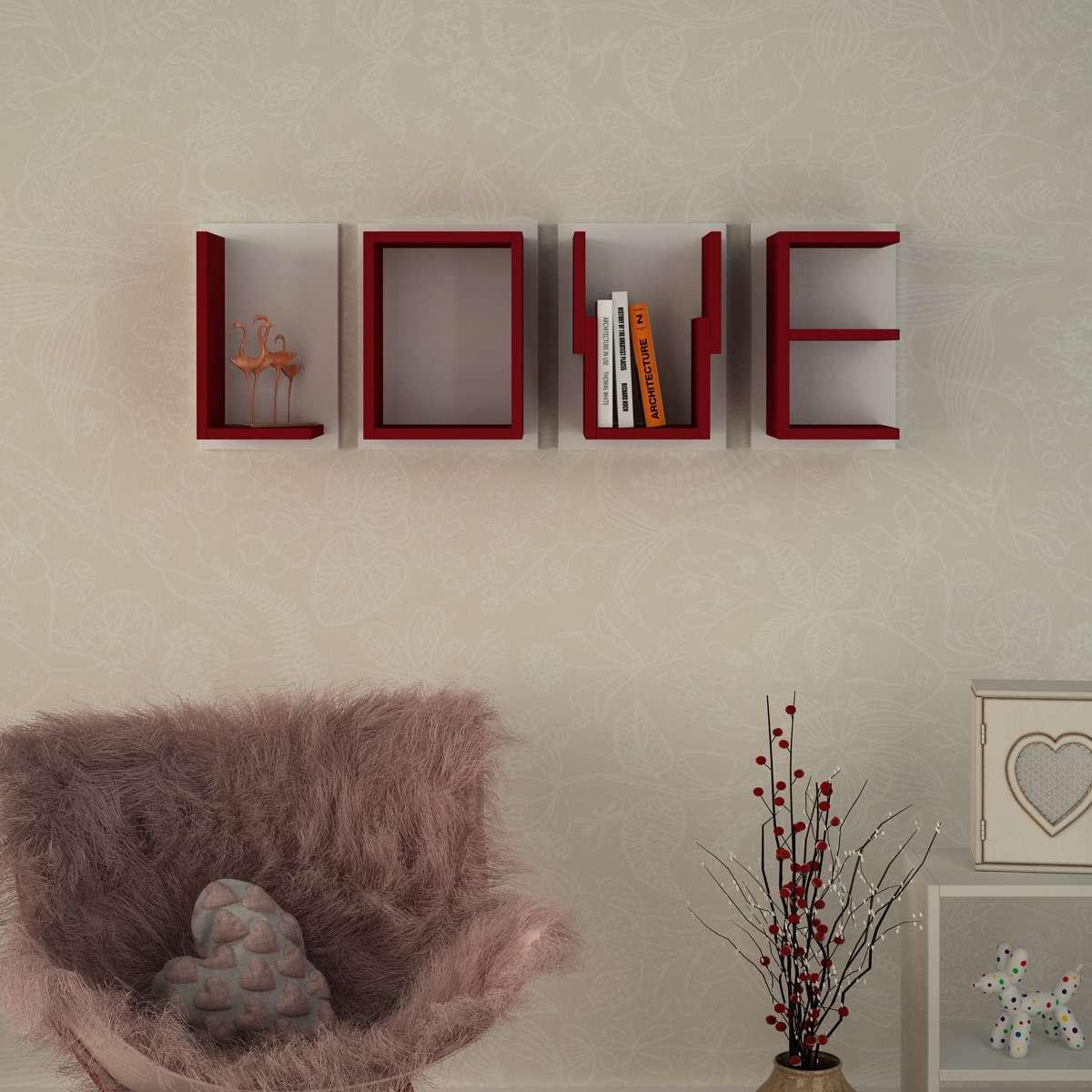 כוורת לתלייה Love אדום/לבן מסדרת Decoline