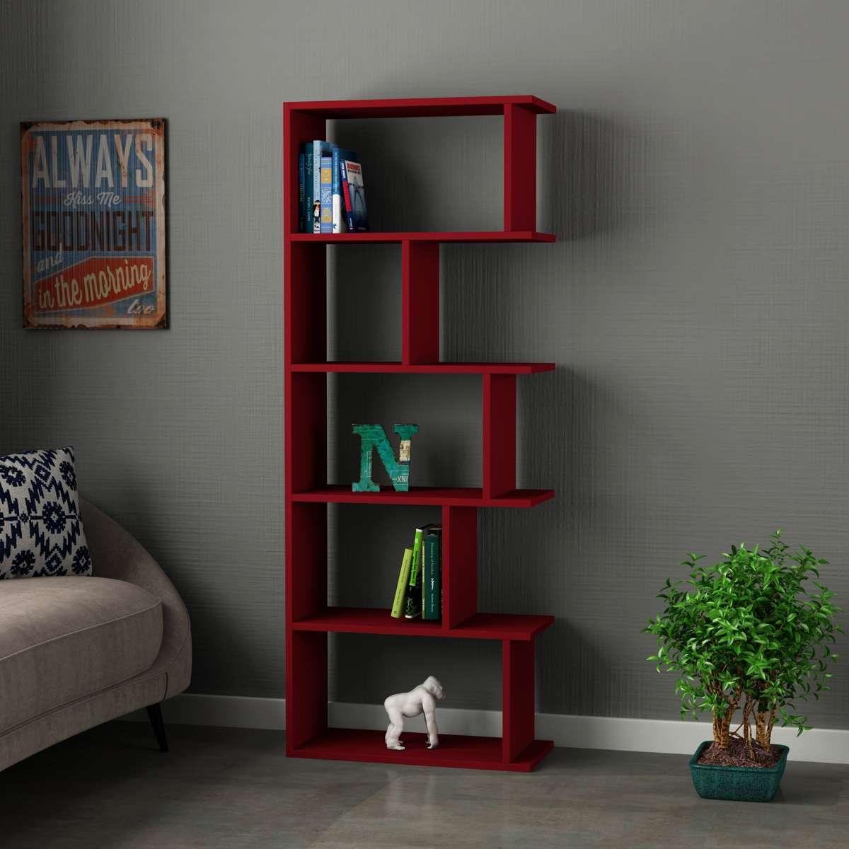 כוננית Tapi Bookcase אדום מסדרת Decoline